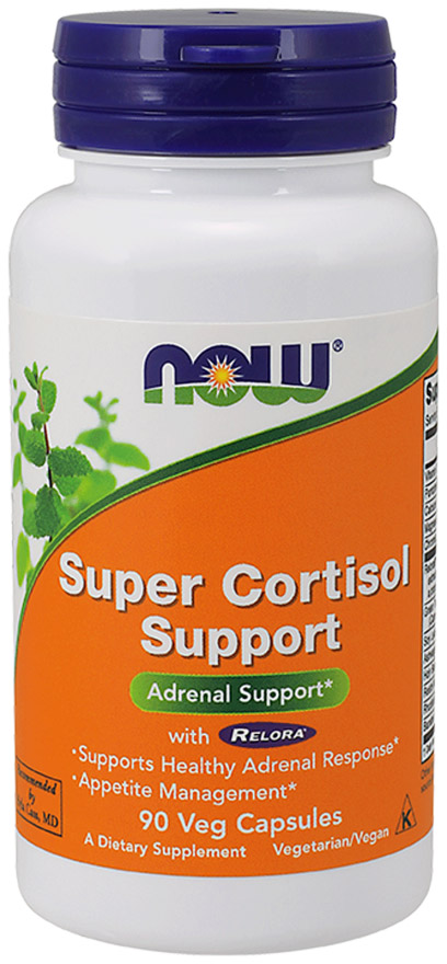 Super Cortisol Support with Relora NOW (90 Vcaps)(EXP 07/2019)