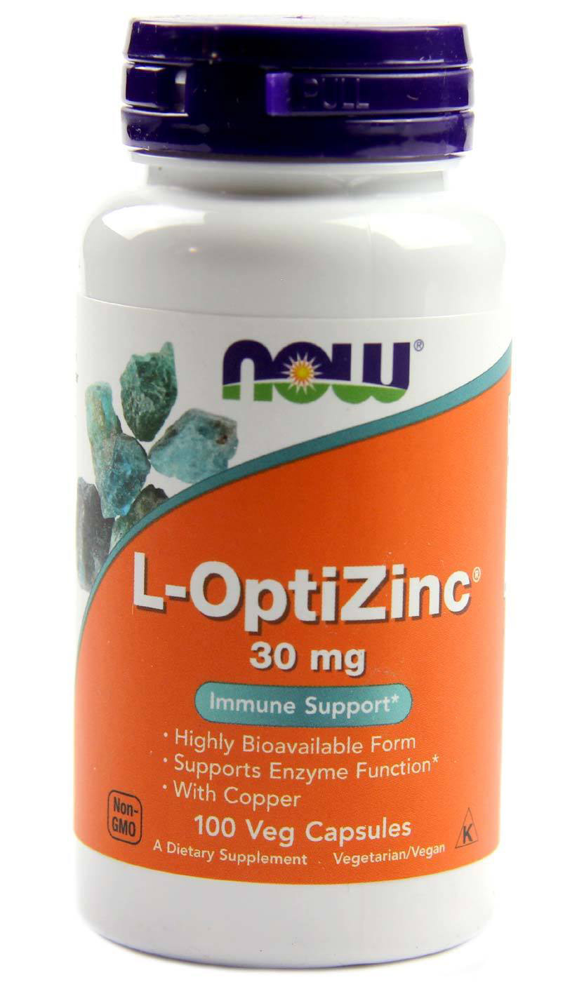 L-OptiZinc 30 mg NOW (100 кап)