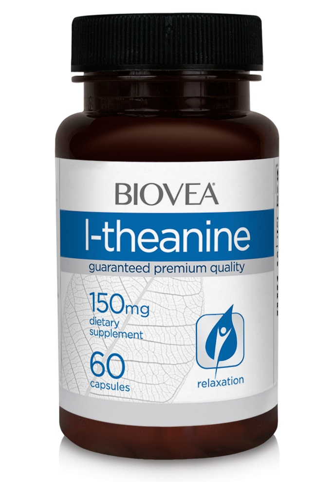L-Theanine 150 mg Biovea (60 вег кап)