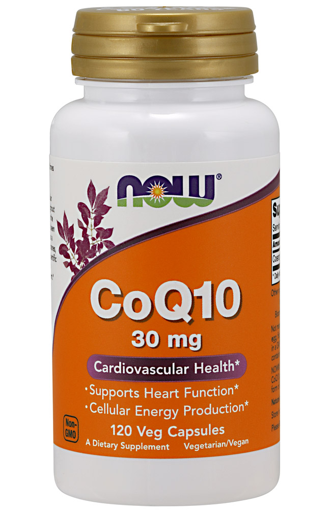CoQ10 30 mg NOW (120 вегетарианских капсул)