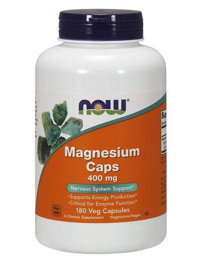 Magnesium 400 mg NOW (180 капсул)