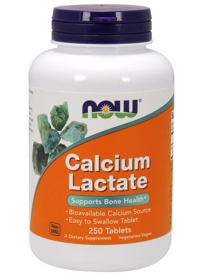 Calcium Lactate NOW (250 таб)