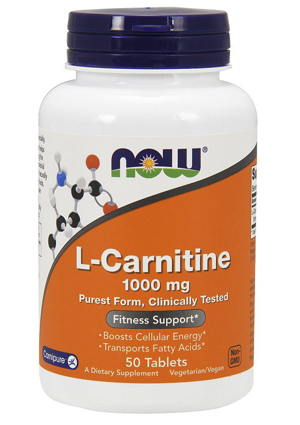 L-Carnitine 1000 mg NOW (50 таб)