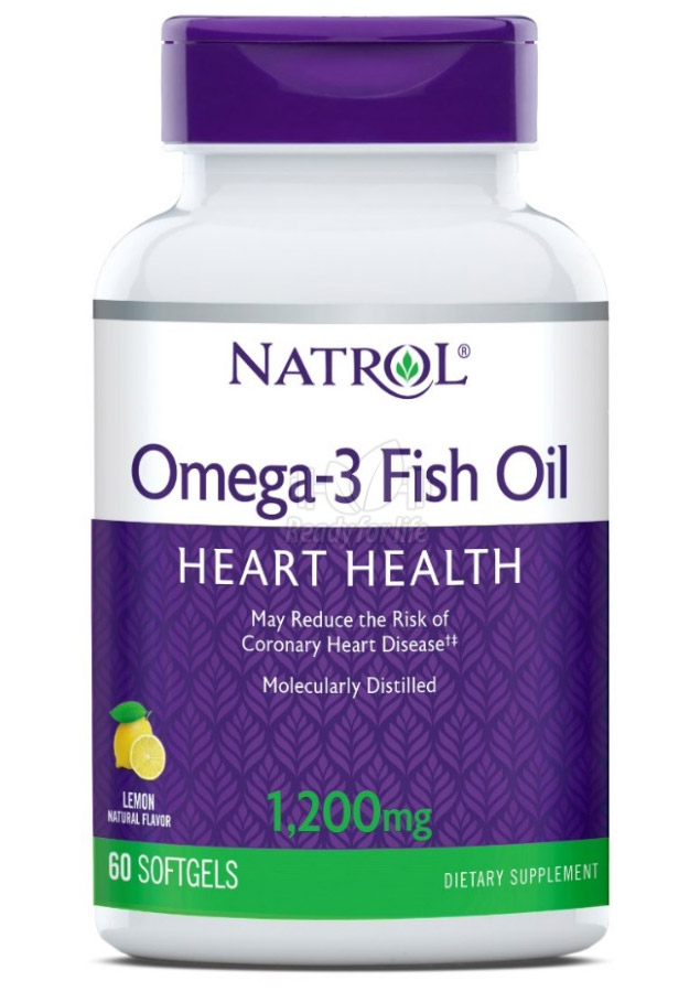 Omega-3 Fish Oil 1200 mg Natrol (60 гелевых капсул)