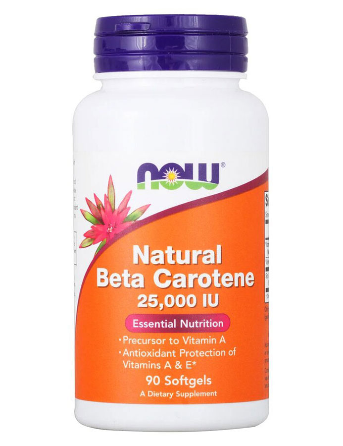 Beta Carotene (Natural) NOW (90 Softgels)