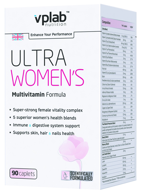 Ultra Women's Multivitamin Formula VPLab Nutrition (90 кап)