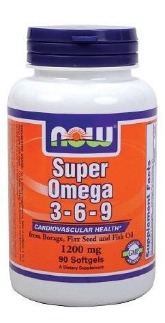 Super Omega 3-6-9 1200 mg NOW (90 кап)