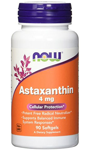 Astaxanthin 4 mg NOW (60 Softgels)