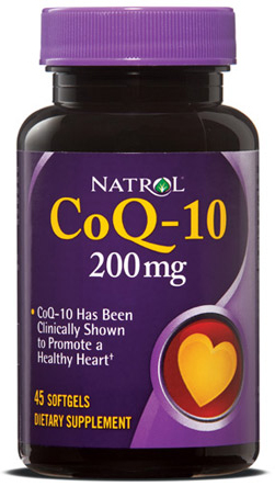 CoQ-10 200 mg Natrol (45 softgels)
