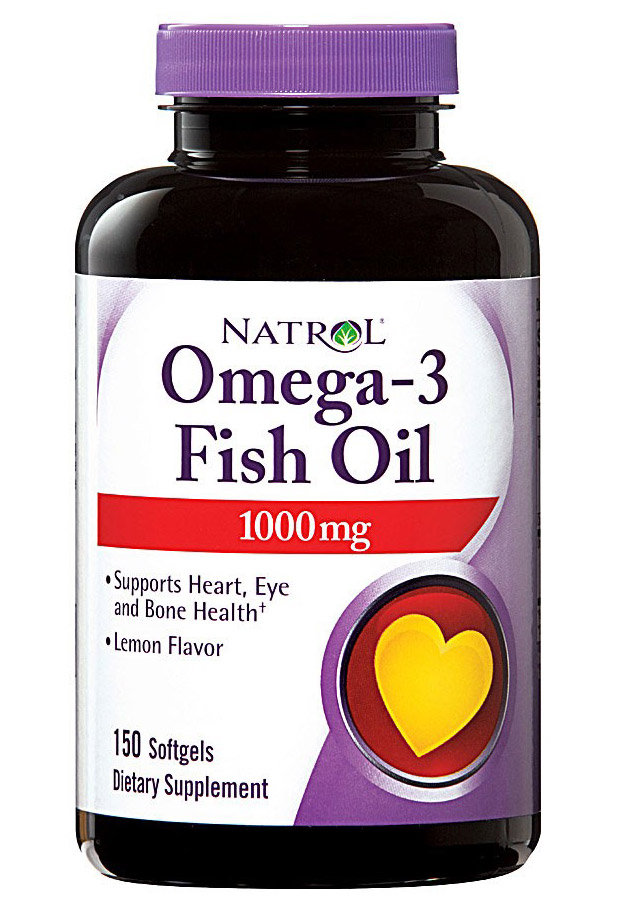 Omega-3 Fish Oil 1000 mg Natrol  (150 softgels)