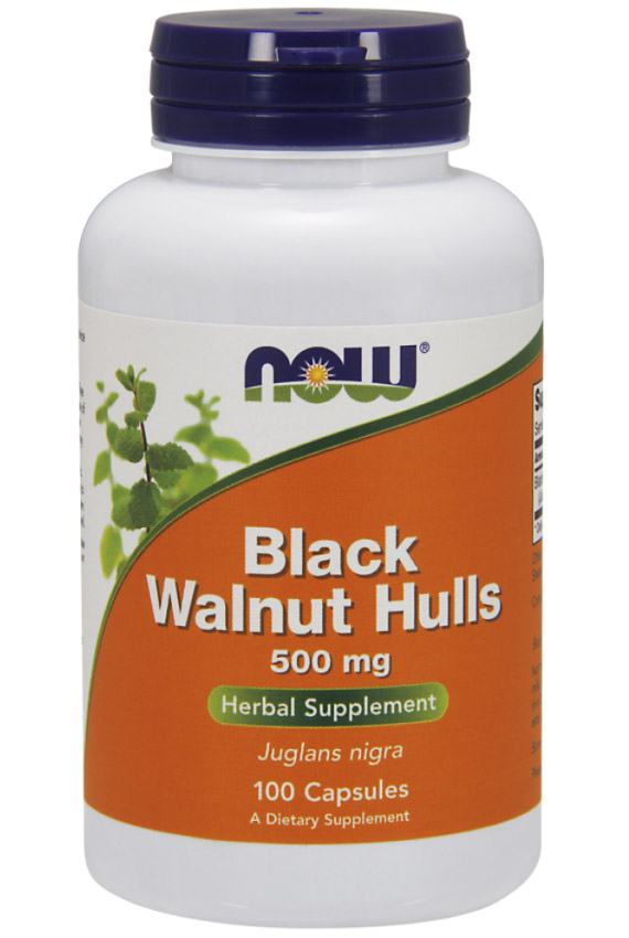 Black Walnut Hulls 500 mg NOW (100 кап)