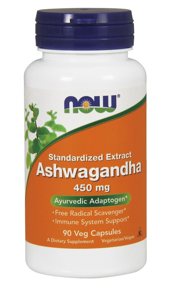 Ashwagandha Extract 450 mg NOW (90 вегетарианских капсул)