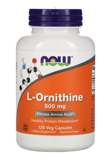 L-Ornithine 500 mg NOW (120 cap)