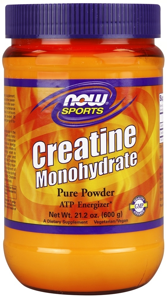 Creatine Monohydrate Powder NOW (600 гр)(годен до 11/2018)
