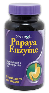 Papaya Enzyme Natrol (100 Chewable Tablets)