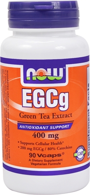 EGCg Green Tea Extract 400 mg NOW (90 Vcaps)