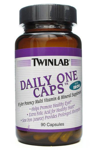 Daily One Caps With Iron Twinlab (90 cap)