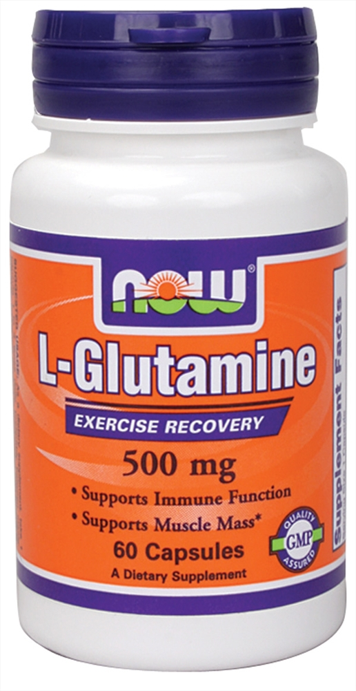 L-Glutamine 500 mg NOW (60 кап)