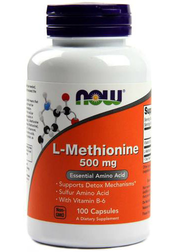 L-Methionine 500 mg NOW (100 cap)