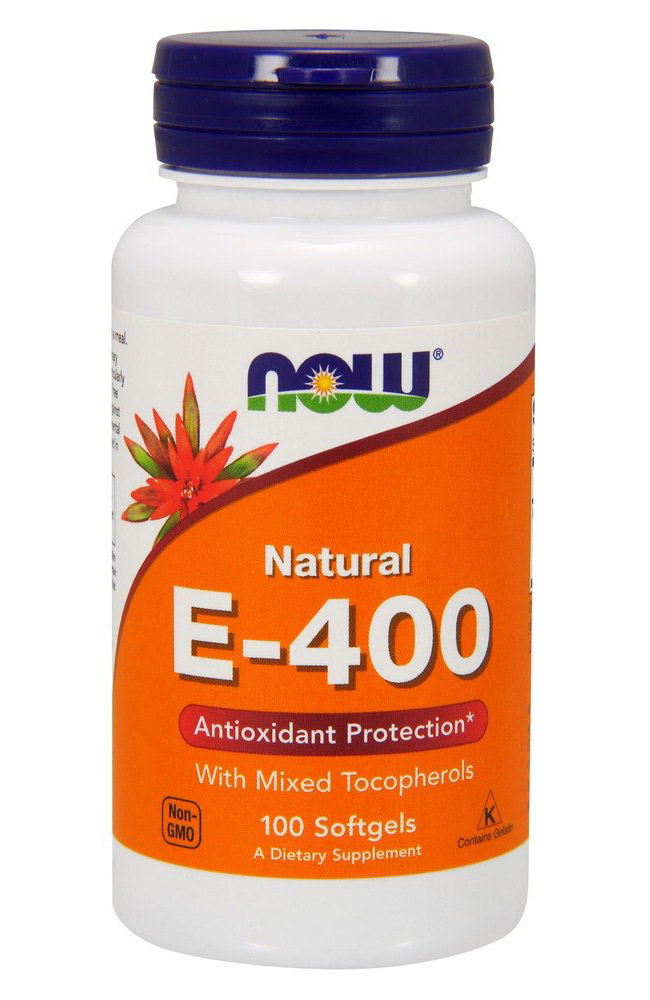 Vitamin E-400 IU With Mixed Tocopherols NOW (100 гелькап)