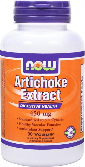 Artichoke Extract 450 mg NOW (90 вегетарианских капсул)