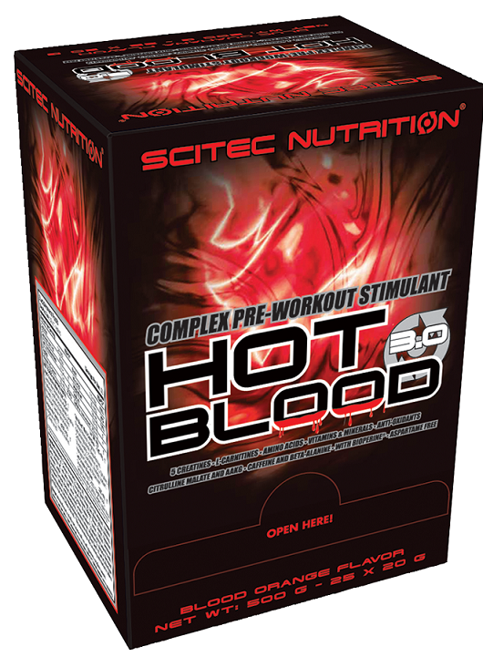 HOT BLOOD 3.0 SCITEC NUTRITION (25x20 g)(EXP 01/2020)