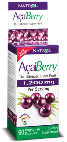 AcaiBerry Extra Strength 1200 mg Natrol (60 кап)