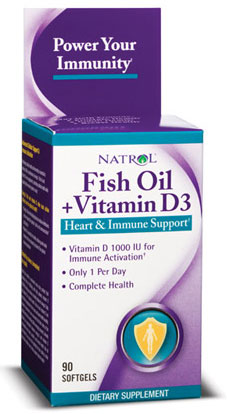 Fish Oil + Vitamin D Natrol (90 гелькап)