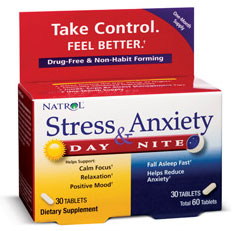 Stress & Anxiety Day & Night Formula Natrol (30+30 таб)