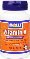 Vitamin A 25000 NOW (100 кап)