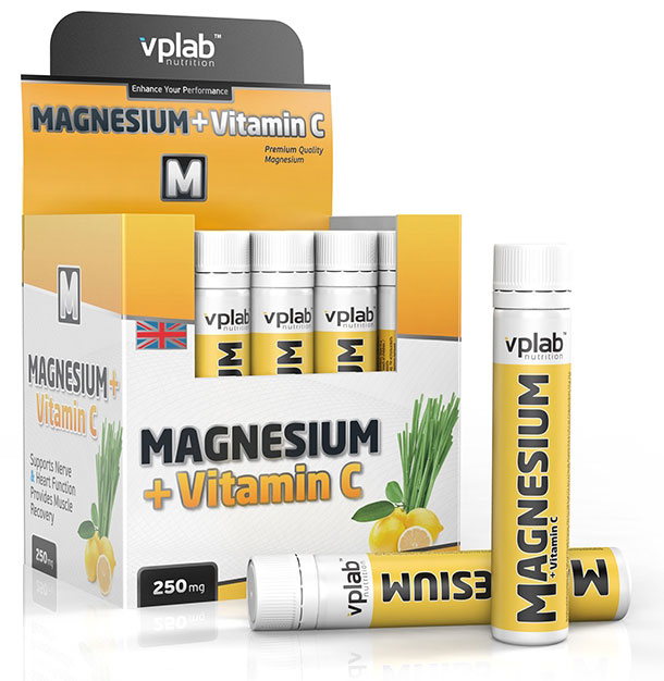 Magnesium plus Vitamin C VPLab Nutrition (20 амп x 25 мл)