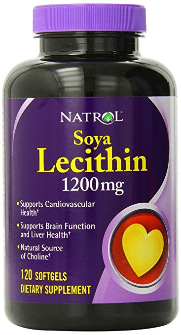 Soya Lecithin 1200 mg Natrol (120 Softgels)