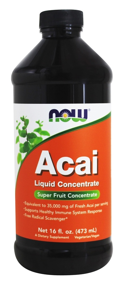 Acai Liquid Concentrate NOW (473 мл)