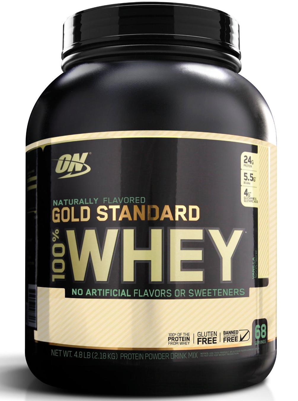 100% Whey Gold Standard Natural Gluten Free (2180 гр)