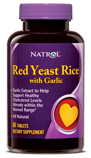 Red Yeast Rice with Garlic Natrol (60 таб)