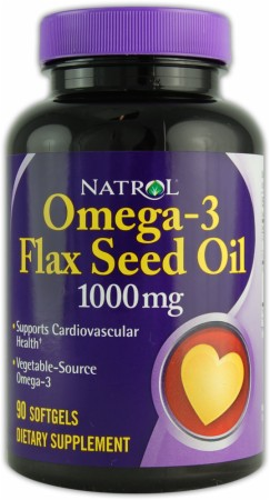 Omega-3 Flax Seed Oil 1000 mg Natrol (90 softgels)