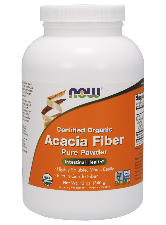 Acacia Fiber Organic Powder NOW (340 гр)
