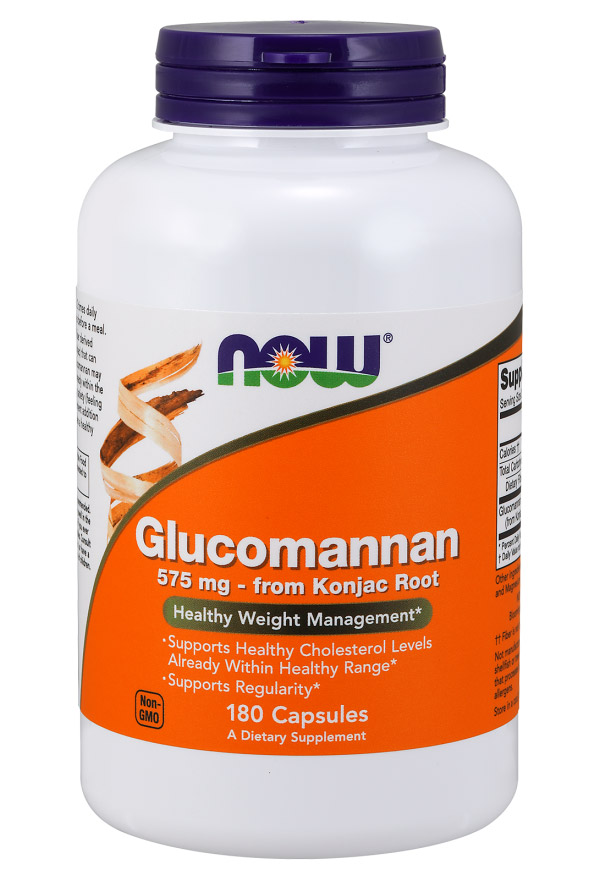 Glucomannan 575 mg NOW (180 Capsules)
