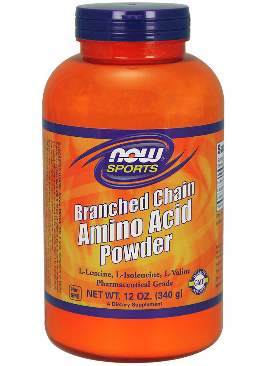 Branched Chain Amino Acid Powder 12 oz (BCAA) NOW (340 gr)(EXP 11/2020)