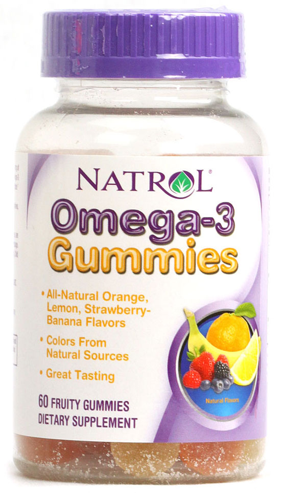 Omega-3 Gummies Natrol (60 Gummies)(EXP 10/2014)