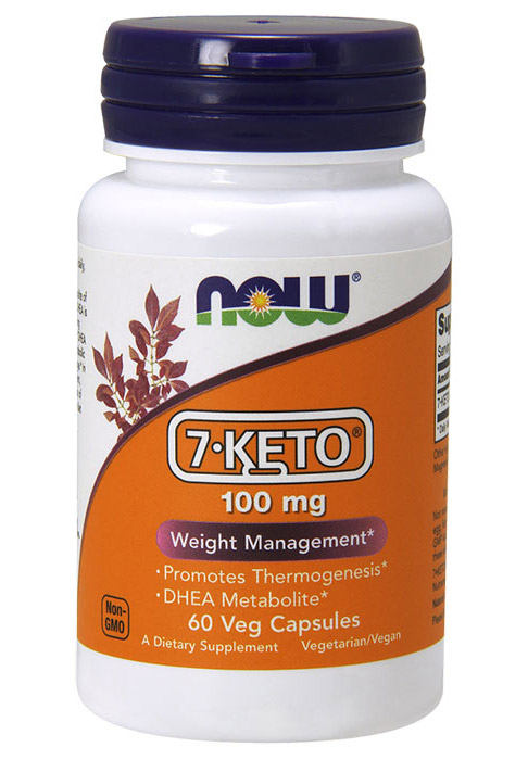 7-Keto 100 mg NOW (60 Veg Caps)