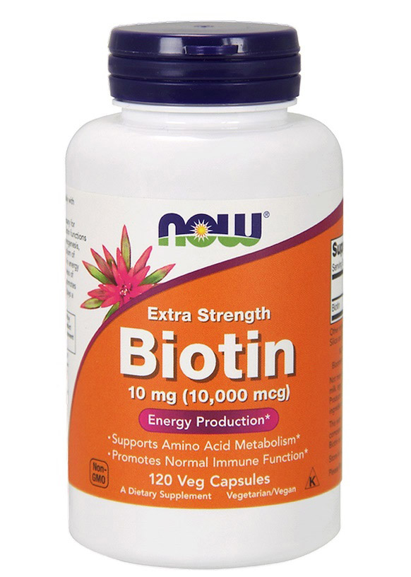 Biotin 10 mg (10000 mcg) Extra Strength NOW (120 вег кап)