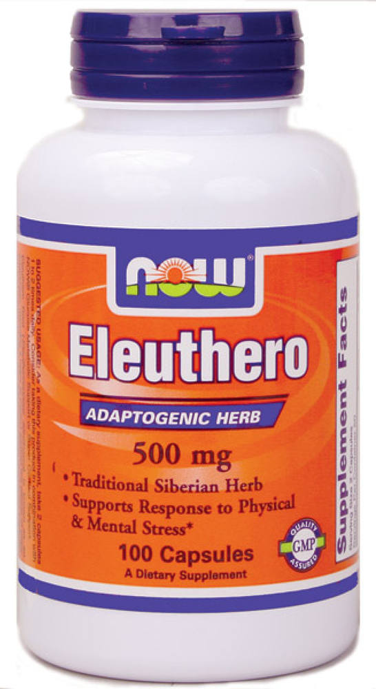 Eleuthero 500 mg NOW (100 кап)