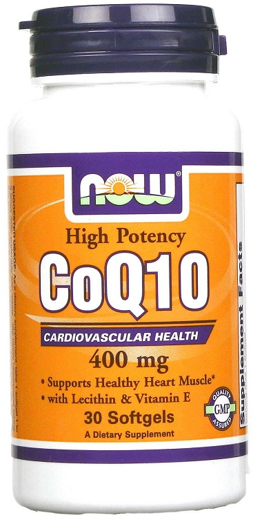 CoQ10 400 mg NOW (30 гелевых капсул)