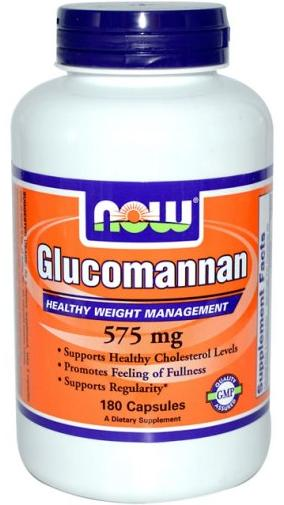 Glucomannan 575 mg NOW (180 кап)
