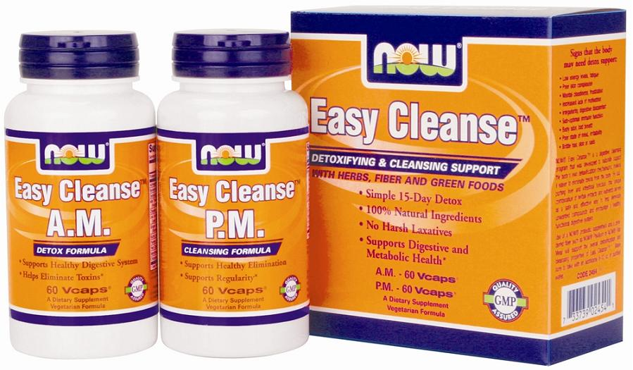 Easy Cleanse A.M. + P.M. NOW (60+60 вегетарианских капсул)