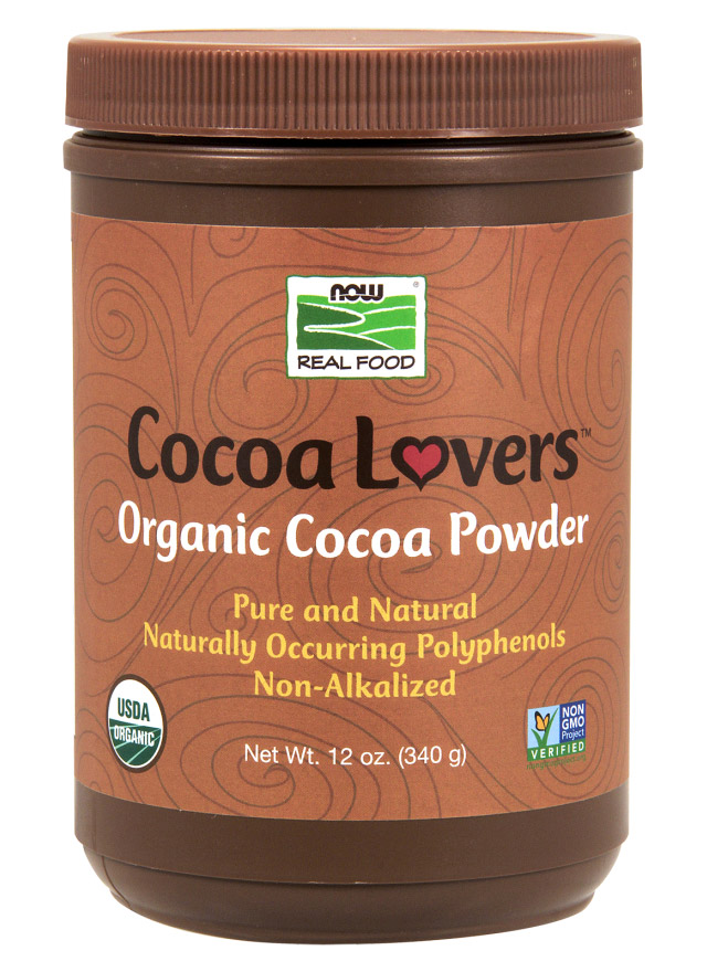 Cocoa Powder Certified Organic 12 oz NOW (340 гр)Cocoa Powder Or