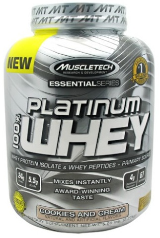 100% Platinum Whey Muscle Tech (2270 g)