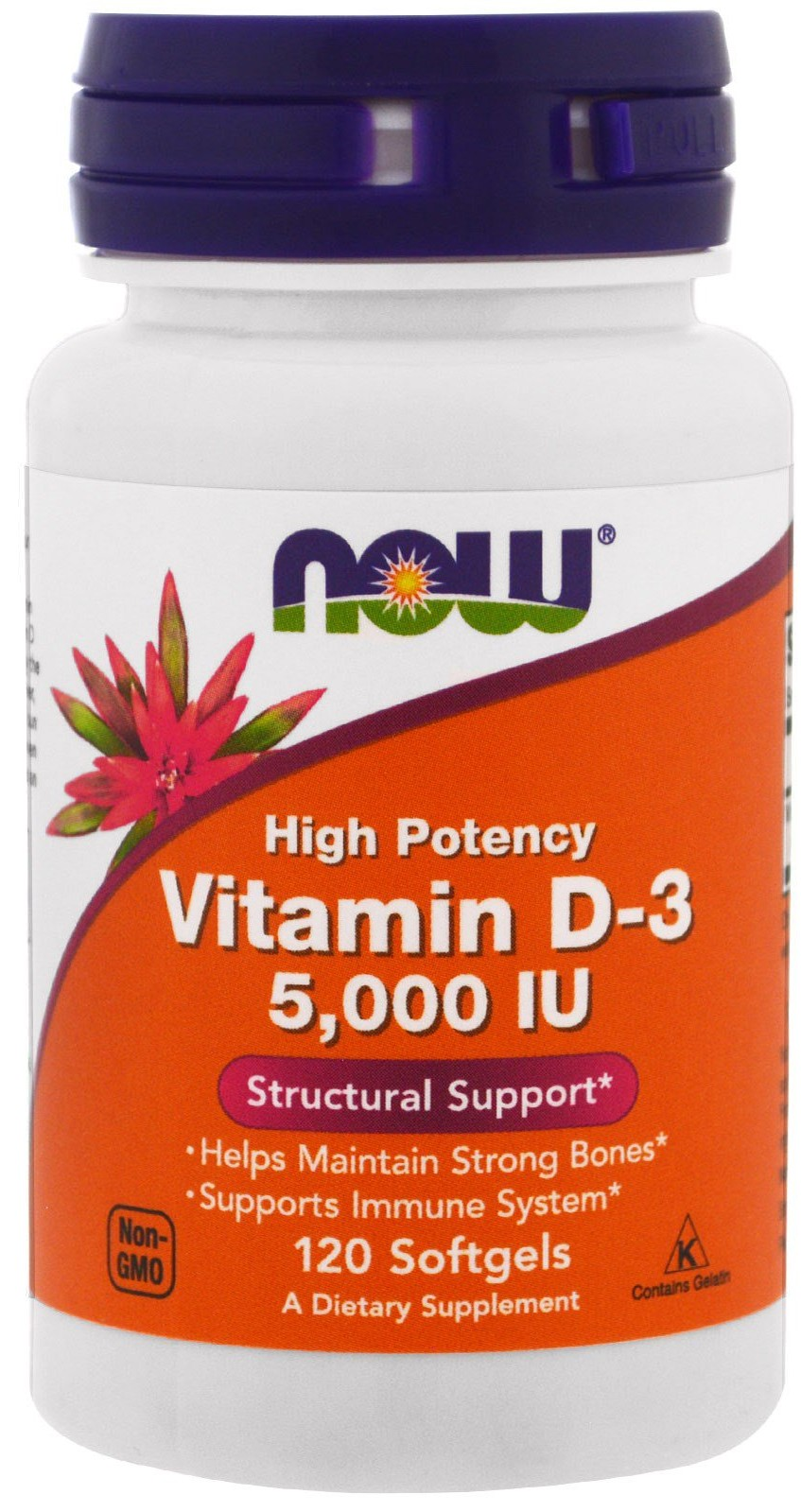 Vitamin D-3 5000 IU NOW (120 softgels)