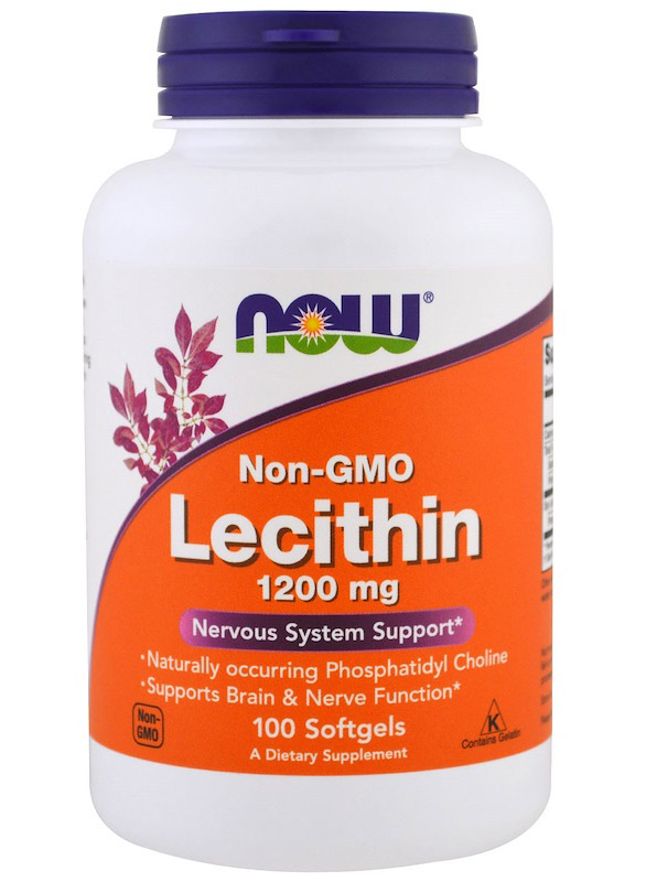 Lecithin 1200 mg NOW (100 гелевых капсул)